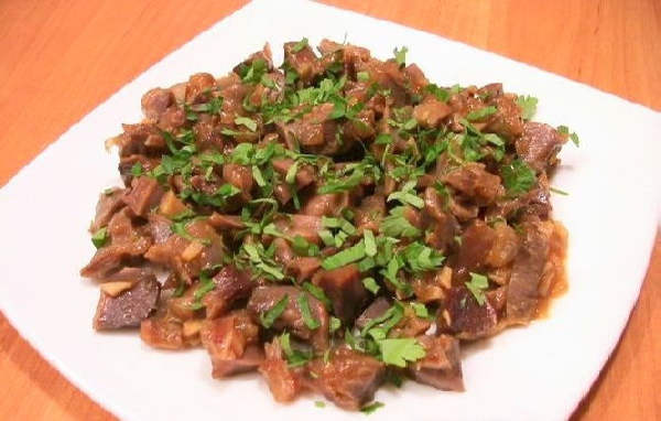 Куриные желудки сердечки печень рецепты пошагово 92