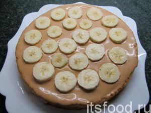 Торт из банана сгущёнки из коржей
