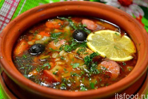 Солянка рецепт без томатной пасты пошагово 57