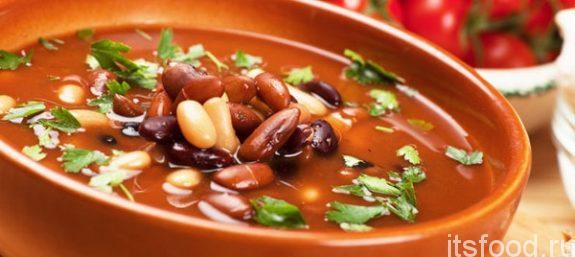 Суп с фасолью и капустой - рецепт с фото