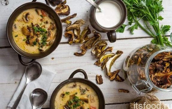 Суп с сушеными грибами рецепт с фото в мультиварке