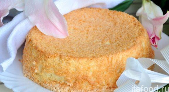 Ангельский бисквит из яичных белков - рецепт