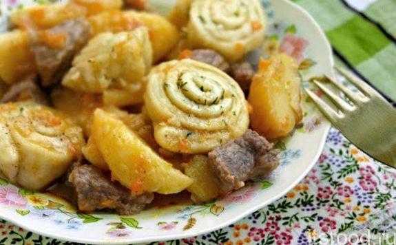 Нудли по-украински с мясом - пошаговый рецепт с фото