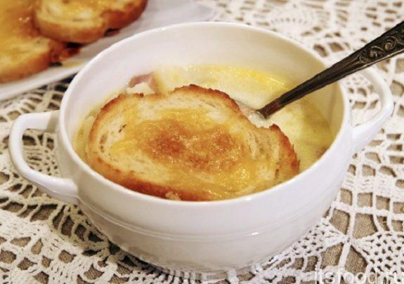 Быстрый чесночный суп