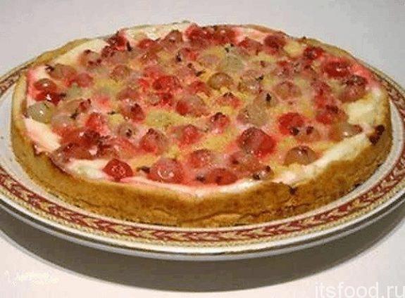 Пирог с творогом на скорую руку в духовке