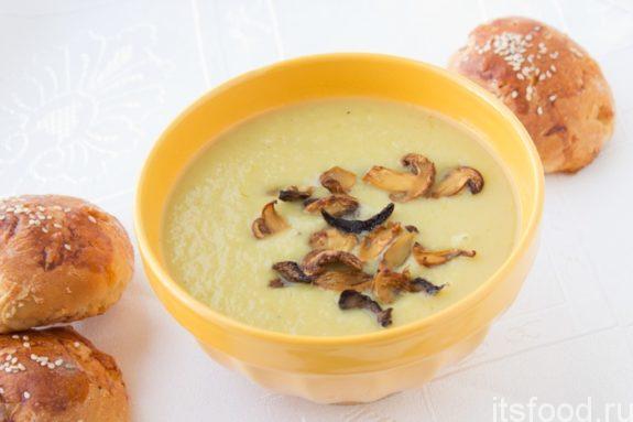 Суп грибной с плавленным сыром: рецепт проще простого