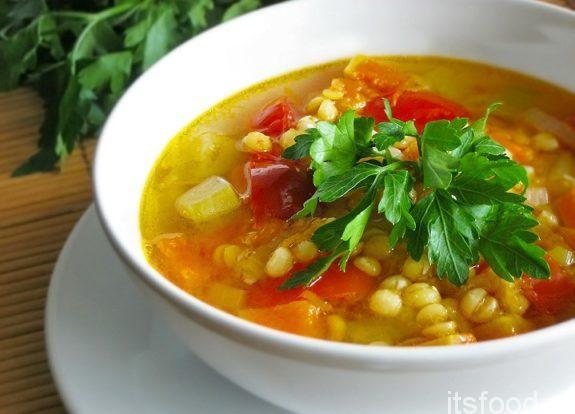 Чечевичный суп с цветной капустой