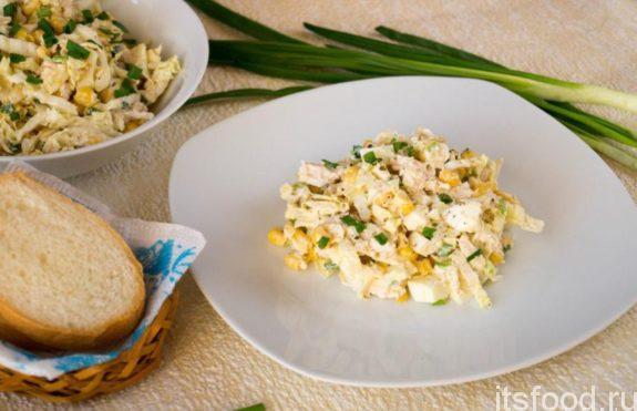 Салат с пекинской капустой - очень вкусный рецепт с фото