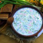 Рецепт окрошки на сыворотке и кефире