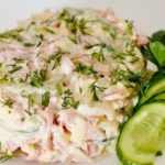 Праздничный салат с курицей и ветчиной - пошаговый рецепт с фото