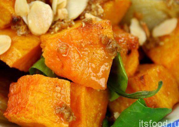 Простой и вкусный салат из тыквы - рецепт с фото