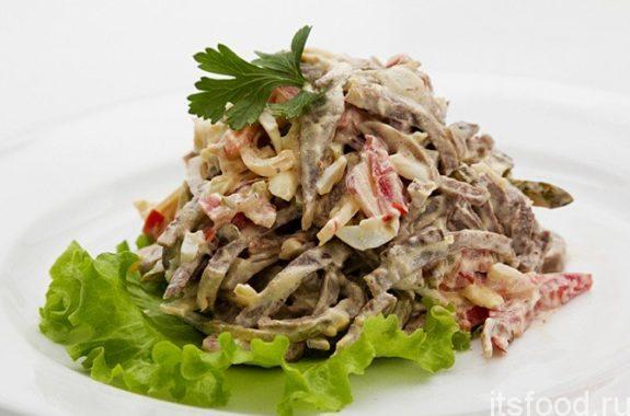 Салат из говяжьего языка - самый вкусный рецепт с фото