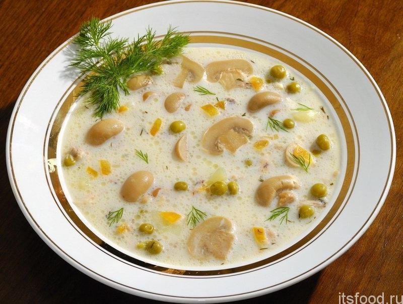 Сырный суп с грибами и плавленным сыром рецепт с пошагово