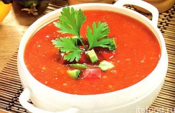 """Томатный суп """"Гаспачо"""" - рецепт классический"""