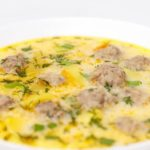 Сырный суп с фрикадельками - рецепт с фото