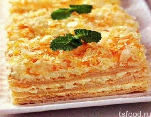 Торт «Наполеон» с заварным кремом: самый вкусный рецепт с фото