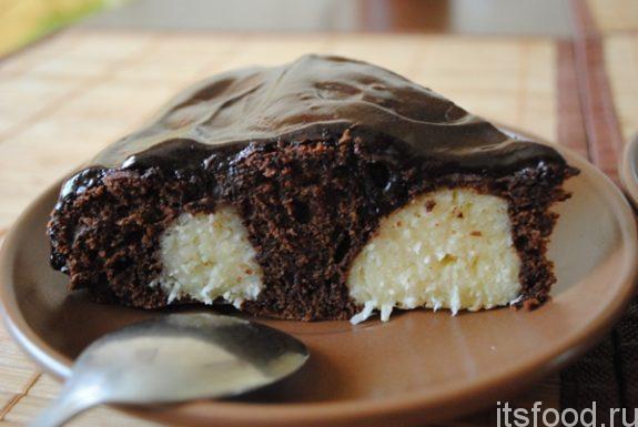 Шоколадный пирог с творожными шариками - пошаговый рецепт