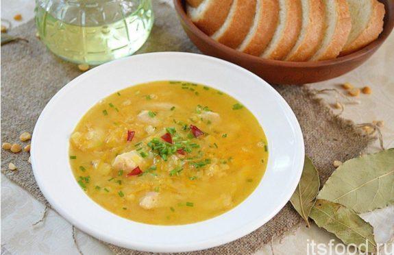 Гороховый суп с курицей - пошаговый рецепт