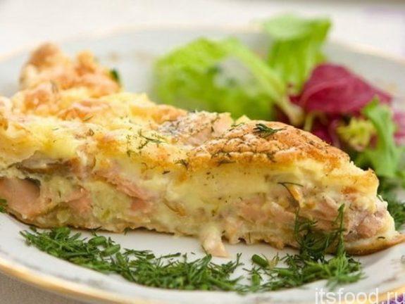 Рыбная запеканка с картофелем в духовке - рецепт с фото