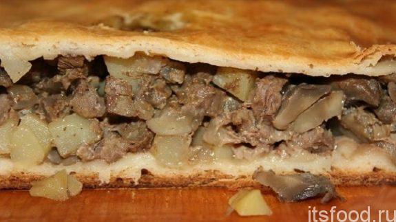 Пирог с мясом и картошкой в духовке - пошаговый рецепт с фото