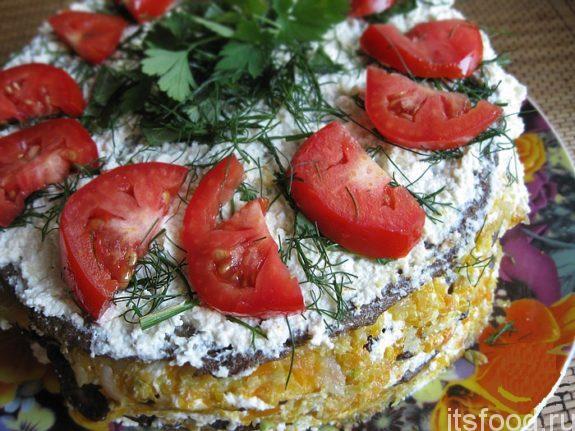 Печеночный торт  - рецепт с фото
