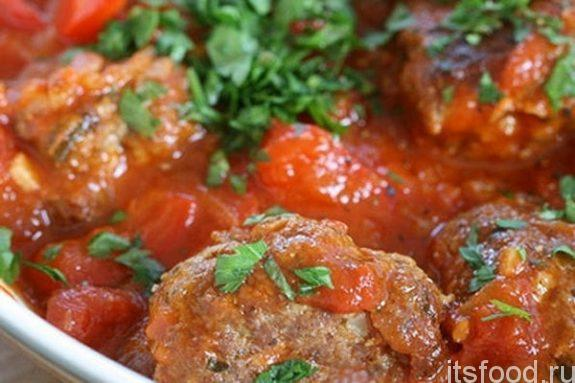 Гречишники с грибами, запеченные в томатном соусе