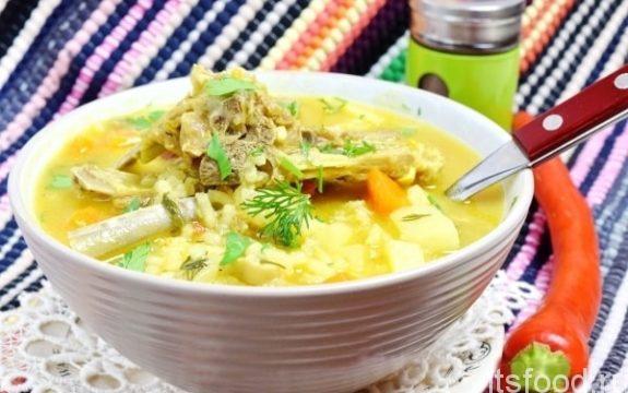 Густой бараний суп
