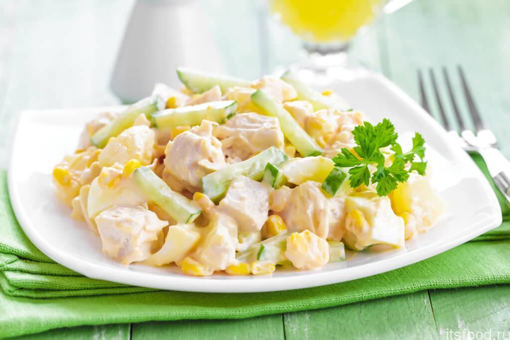 дома, класическ салат кур с ананасами ГОК, ООО