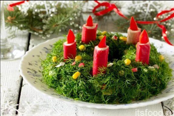 Простые и оригинальные салаты на Новый Год