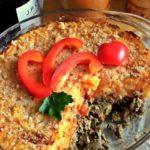 Печень под овощным пюре