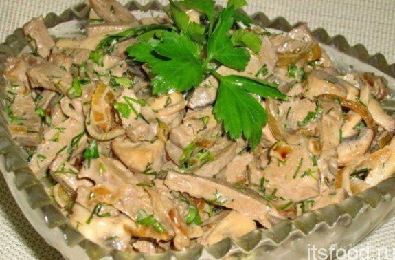 Салат из куриной печени - очень вкусный рецепт с фото