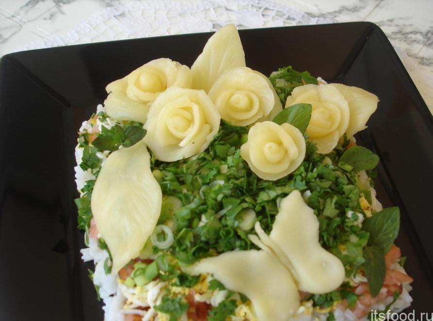 Доставка цветов, букет с сыром и яйцом