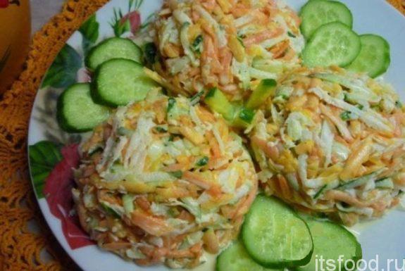 Быстрый и вкусный рецепт салата из свежей тыквы