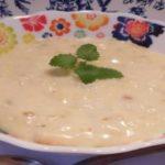 Сладкий молочный суп с каштанами - рецепт