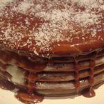 Шоколадный торт на сковороде из наливных коржей