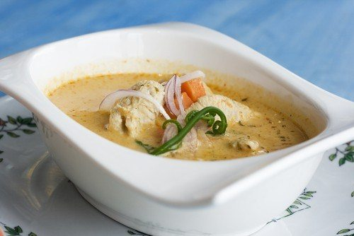 Суп с курочкой и сыром