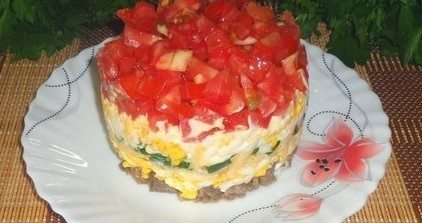 Яичный салат «Острый»