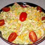 Салат с яйцом и куриной грудкой