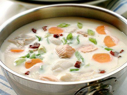 Рыбный суп со сливками - рецепт с фото