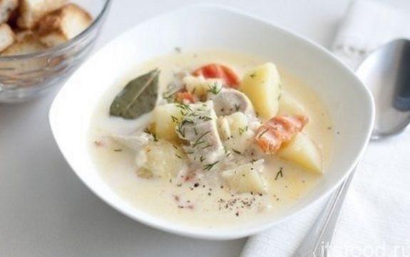 Рыбный суп с плавленым сыром - рецепт