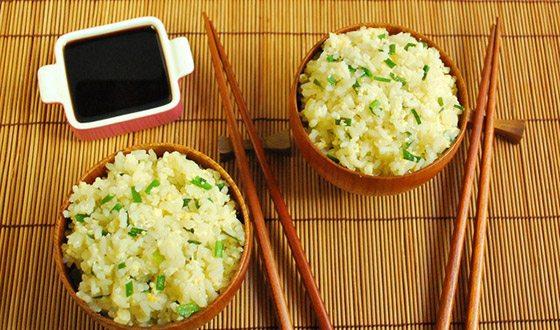 Японский рис с чесноком