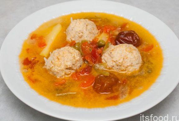 Суп с фрикадельками и рисом - пошаговый рецепт с фото