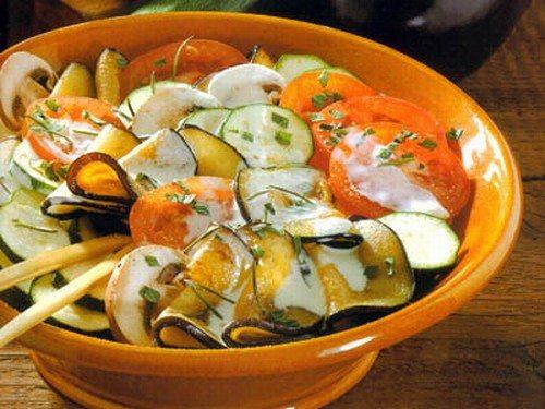 Салат из дыни с баклажанами