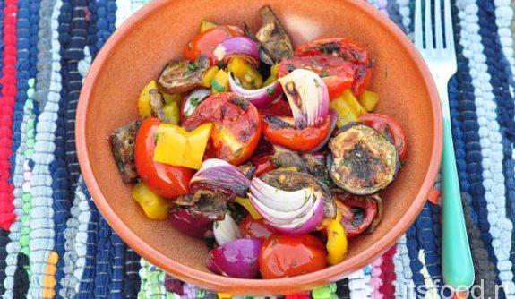 Летний салат на гриле