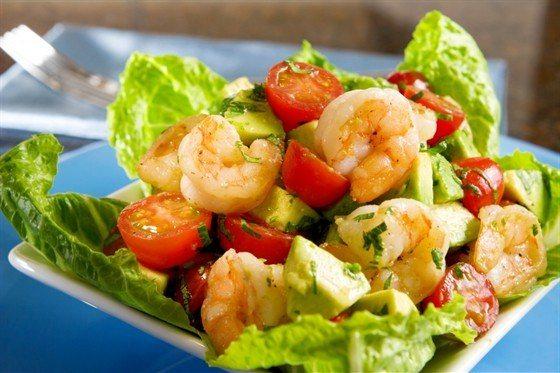 Салат с креветками - рецепт с фото