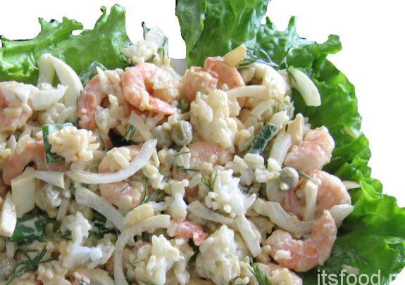 Салат с креветками - простой и вкусный рецепт с фото