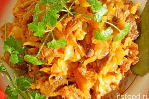 Салат с копченостями и картофелем
