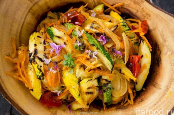 Салат с кабачками и морковью