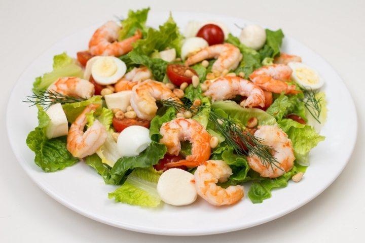 Салат из мяса креветок рецепт с