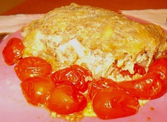 Рыбная запеканка - рецепт с помидорами черри